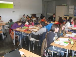 Treballant a classe