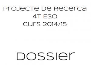 Fragment de la portada del dossier del Projecte de Recerca.