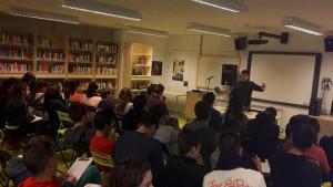 En Xavier Gual, en un moment de la xerrada.